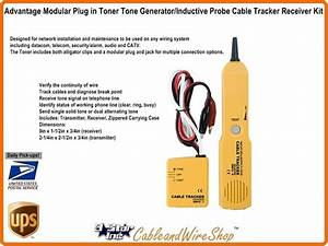 Advantage Modular Plug In Toner Tone Generator With Inductive Probe Cable Tracker Receiver Kit