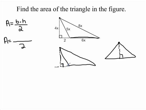 Expression For The Area Of A Triangle Youtube