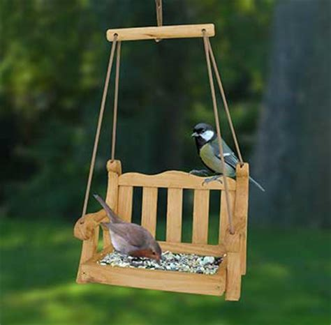 swing seat bird feeder british bird lovers