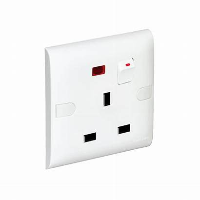Socket Flat Slim Neon Switch Gang