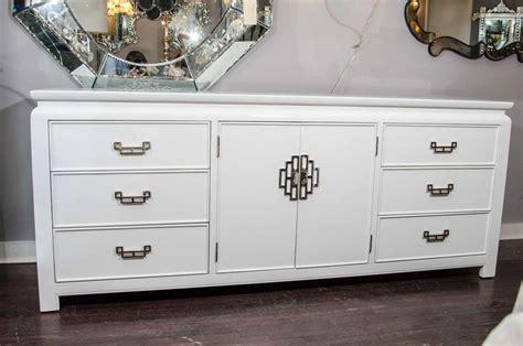 white lacquer dresser 1970s white lacquer dresser with nickel plated chinoiserie