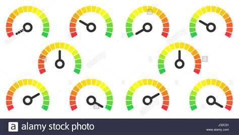 Meter Signs Infographic Gauge Element Stock Photos & Meter