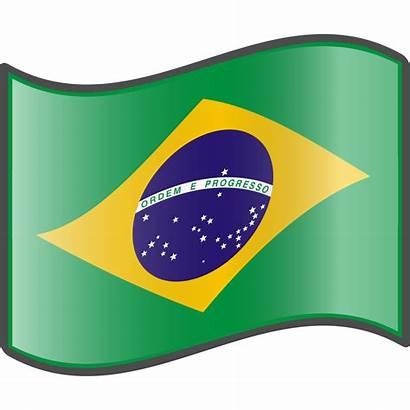 Flag Brazilian Brazil Clipart Svg Nuvola Clip