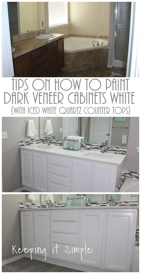 tips    paint dark veneer cabinets white  iced