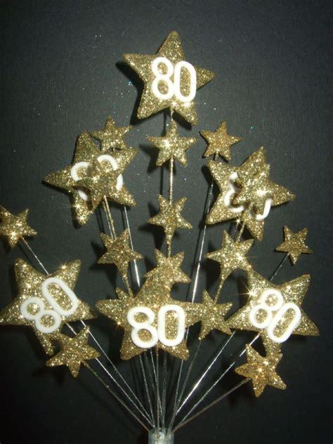 star age  birthday cake topper decoration   gold