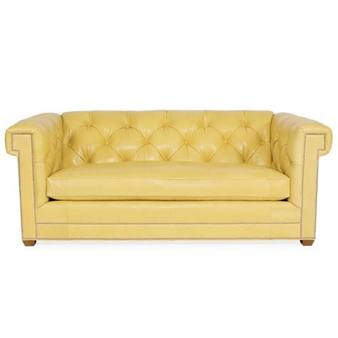 yellow leather sofa yes i think it s time for a yellow leather sofa gorgeous claybourne yellow leather sofa