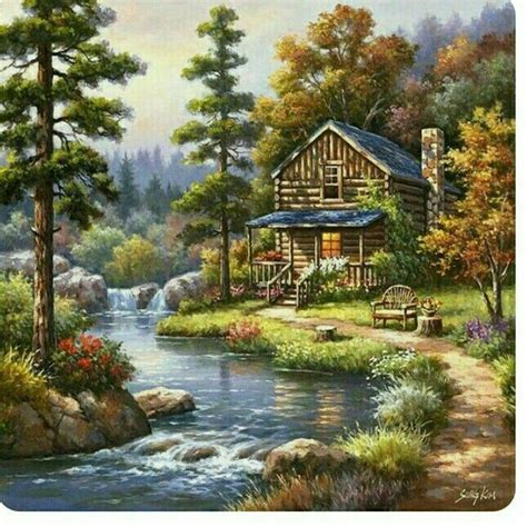 pin  meena harwani  pantings painting cottage art