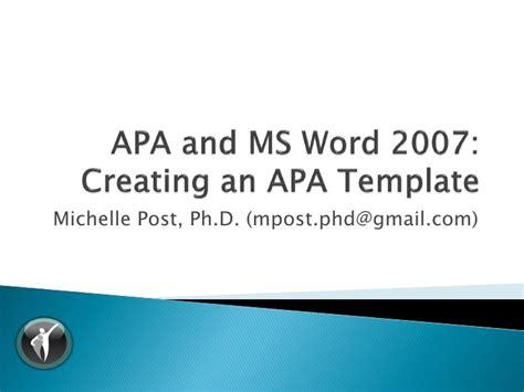 ed ms word  template tutorial