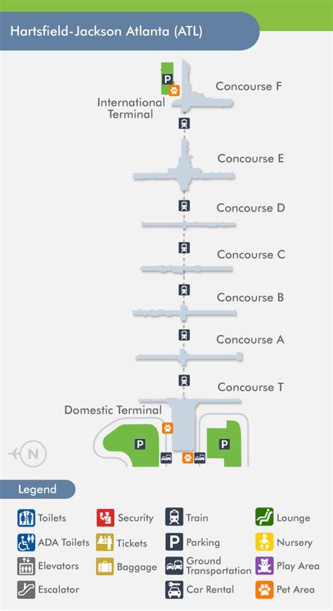 atlanta airport atl terminal map