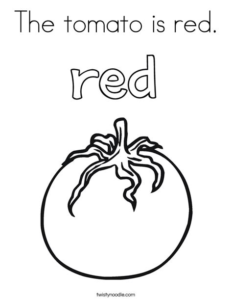 tomato  red coloring page twisty noodle