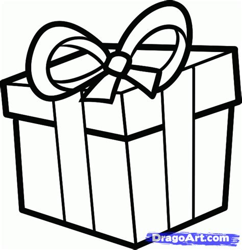 how to draw a christmas present step by step christmas