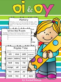 vowel digraphs oi  oy worksheets  rachel nielson tpt