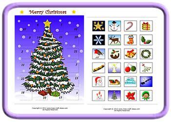 Make Your Own Advent Calendar Template by Printable Advent Calendar