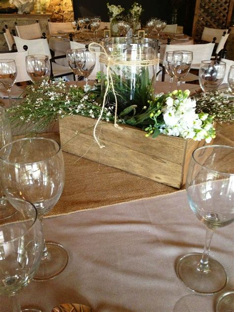 Country Wedding Centerpiece But Use Ballmason Jars And