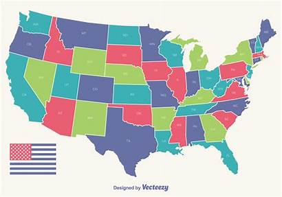 Map Usa Outline State Outlines Vecteezy Flag