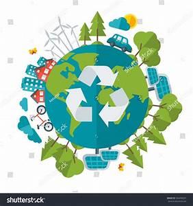 Eco Friendly Green Energy Concept Vector Stock Vector ...