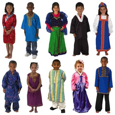cultural clothing outfits set of 10