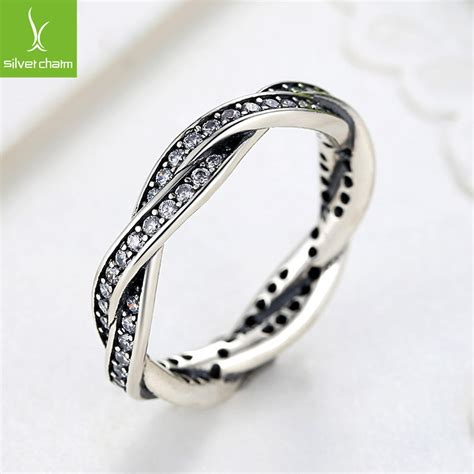 925 sterling silver rings with full crystal compatible