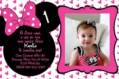 minnie mouse birthday invitation templates psd ai