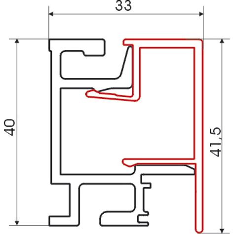 Lade A Muro Per Interni Linero Mosaiq Profilo Per Parete Lunghezza 1500 Mm