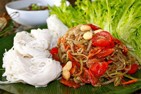 cuisine salade papaya salad lao food food