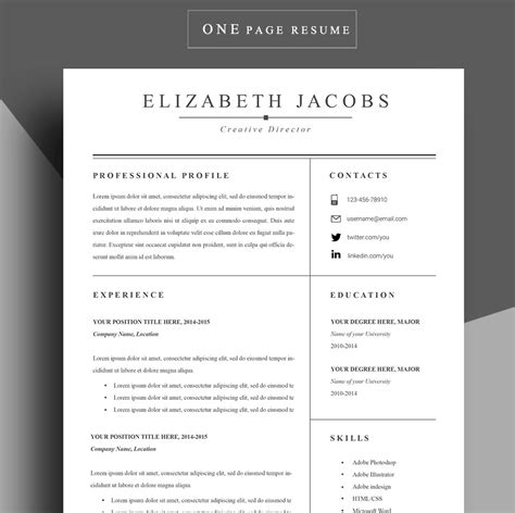 19704 free professional resume format adobe illustrator resume template free choice
