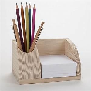 Bureau Bois Brut : petit organisateur de bureau en bois porte cartes et poste stylos ~ Melissatoandfro.com Idées de Décoration