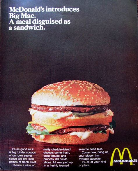 fast cuisine big mac you deserve a today 1960s 1980s mcdonald s history in advertising flashbak