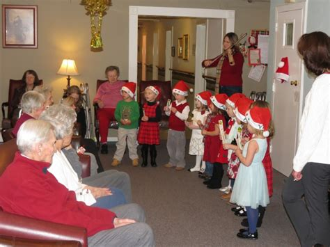 christmas nursing home chester preschoolers bring of to nursing home mendham nj patch