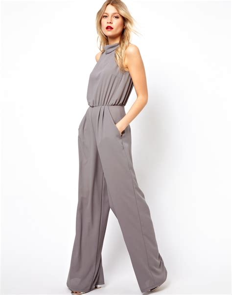 grey jumpsuit womens gray jumpsuit womens clothing