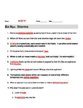 bill nye storms guide worksheet by jjms teachers