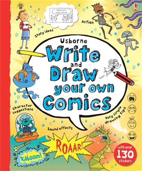 write  draw   comics  usborne childrens books
