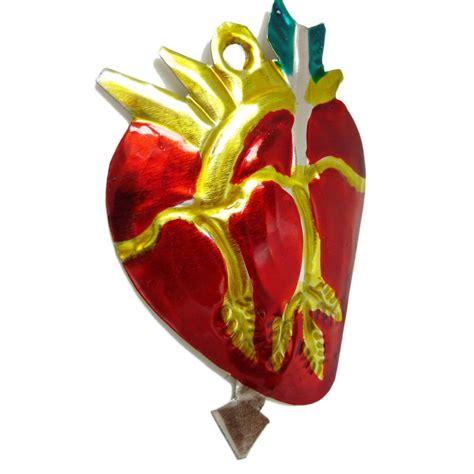 anatomical heart tin ornament  school tattoo exvoto