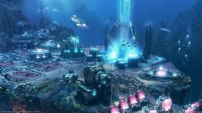 Underwater Fi Sci Ocean Deep 2070 Wallpaperup