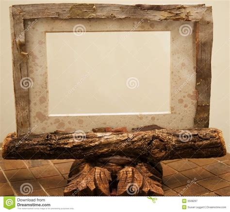 rustic picture frame royalty  stock photography