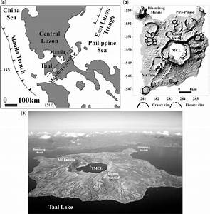 A  Geographical Location Of Taal Volcano  Philippines   B