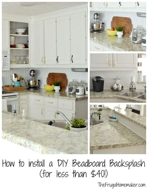how to apply backsplash in kitchen how to install a diy beadboard backsplash kitchen makeover