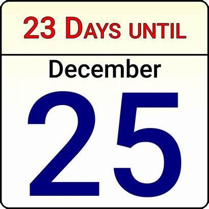Countdown Christmas Calendar Clipart Vector Kalender Domain