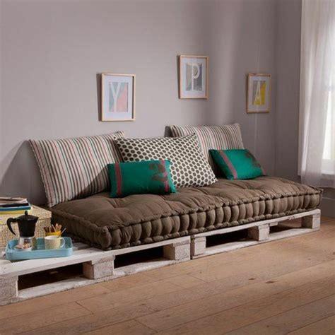 matelas pour canapé palette coussins pour canapé palette canapé idées de