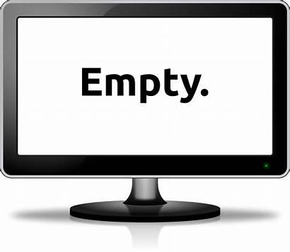 Computer Monitor Empty Clip Clipart Screen Vector