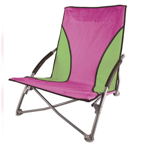 stansport low profile fold up chair lime and hot pink