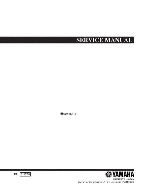 YAMAHA CDR-1000 SM Service Manual download, schematics
