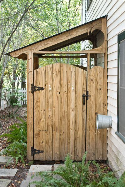 garden shed  place  hide garbage cans outdoor