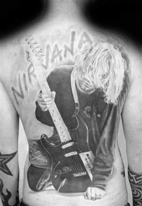 60 Nirvana Tattoo Designs For Men - Rock Band Ink Ideas