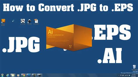 Try this free online service or download a total image converter for unlimited work! Trace .JPEG to .EPS Vector - For Beginners FREE/EASY - YouTube