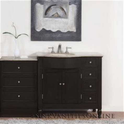 Bathroom Vanity With Center Sink by 58 Quot Kelston Bathroom Center Vanity Left Sink 0902