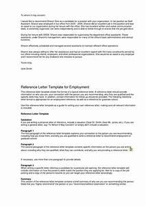 General Letter Of Recommendation Template Samples Letter