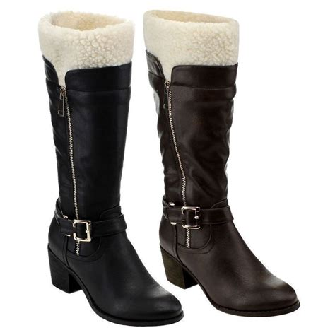 Womens Boots Fashion Mid Calf Knee High Heels New Riding