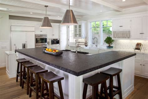 kitchen island stools and chairs l shaped island kitchen traditional with materials
