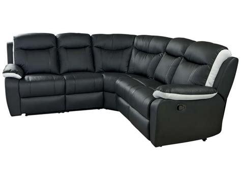 canapé d angle noir conforama canapé d 39 angle relaxation 5 places coloris noir et